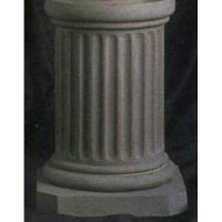 Short Fluted Riser Stand Pedestal Statue Base 18in. - Fiberglass Resin