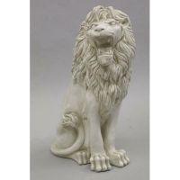 Sitting Lion De Bagni Delucca - Fiberglass - Outdoor Statue