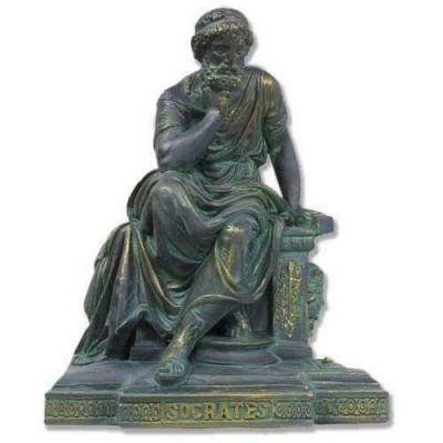 Socrates Seated - Fiberglass - Indoor/Outdoor Statue/Sculpture -  - HT911