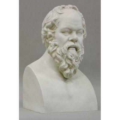 Socrates (Chest Up) 21 in. - Fiberglass - Indoor/Outdoor Statue -  - T9029
