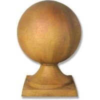Sphere Estate Finial 30in. - Fiber Stone Resin - Indoor/Outdoor Statue