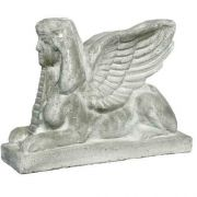 Sphinx Harot 15in. - Fiber Stone Resin - Indoor/Outdoor Garden Statue