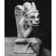 Spitting Gargoyle Small 6in. High - Fiberglass - Outdoor Statue