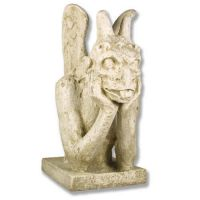 Spitting Notredame Gargoyle 36in. - Fiberglass - Outdoor Statue