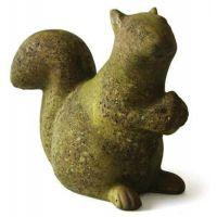 Squirrel w/Acorn Fiber Stone Resin Indoor/Outdoor Statue/Sculpture
