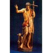 St. John The Baptist w/(Staff & Sheep) - Fiberglass - Statue