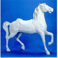 Standing Carousel Horse 59in. - Fiber Stone Resin - Outdoor Statue