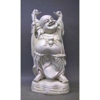 Standing Jolly Hotei Buddha 27in. Fiberglass In/Outdoor Statue