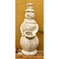 Stone Cold Snowman 37in. - Fiber Stone Resin - Indoor/Outdoor Statue