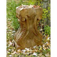 Stone Table Base 29in. Fiberglass Indoor/Outdoor Garden Statue