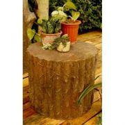 Stump Stool 17 Inch Fiber Stone Resin Indoor/Outdoor Statue/Sculpture