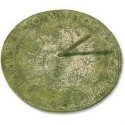 Sundial - Fiber Stone Resin - Indoor/Outdoor Garden Statue/Sculpture