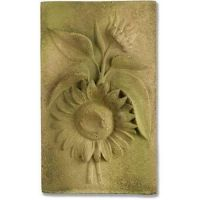 Sunflower Plaque Fiber Stone Resin Indoor/Outdoor Statue/Sculpture