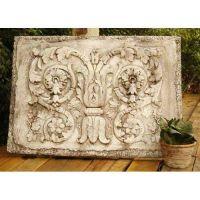 Tanzarian Plaque 24in. High - Fiber Stone Resin - Outdoor Statue