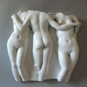 Three Graces Frieze 15in. - Fiberglass - Indoor/Outdoor Statue