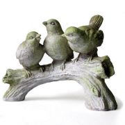 Three Singing Birds Fiber Stone Resin Indoor/Outdoor Statue/Sculpture