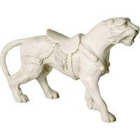 Tiger Carousel 10in. - Fiberglass Resin - Indoor/Outdoor Garden Statue
