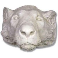 Tiger Life Size Mask - Fiberglass - Indoor/Outdoor Garden Statue