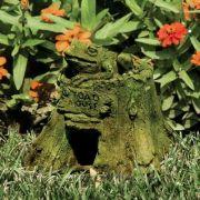 Toad House 7in. - Fiber Stone Resin - Indoor/Outdoor Statue/Sculpture