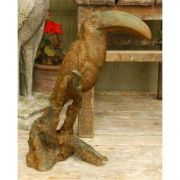 Toucan Standing 18in. - Fiber Stone Resin - Indoor/Outdoor Statue
