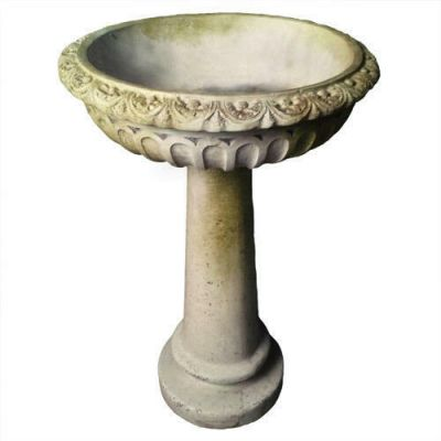 Trish Birdbath Fiber Stone Resin Indoor/Outdoor Statue/Sculpture -  - FS8635