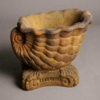 Triton Seashell Planter Small - Fiber Stone Resin - Outdoor Statue