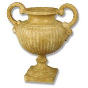 Trofeo Urn Small 21in. Fiber Stone Resin Indoor/Outdoor Garden Statue