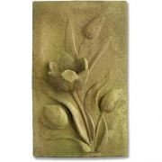 Tulip Plaque 17.5in. Fiber Stone Resin In/Outdoor Wall Mount