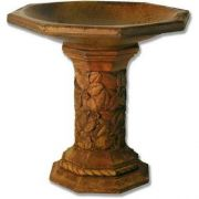 Turner Birdbath 21in. - Fiber Stone Resin - Indoor/Outdoor Statue