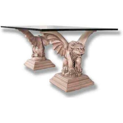 Tuscan Gargoyle Cocktail - Set - Fiberglass - Table Base 2 Piece -  - F520S