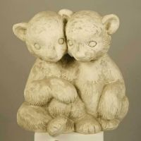 Twin Bear Cubs 14in. (Cp - Fiberglass - Indoor/Outdoor Statue