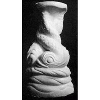Twisted Dolphin Riser Stand Pedestal Statue Base - Fiberglass - Statue