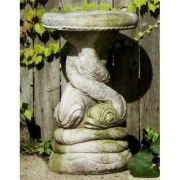 Twisted Dolphin Seat 19in. Fiber Stone Resin Indoor/Outdoor Statue