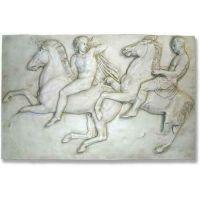 Two Horseman 42in. - Fiberglass Resin - Indoor/Outdoor Garden Statue