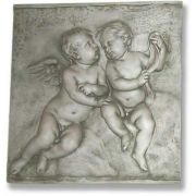 Two Singing Cherubs Frieze - Fiberglass - Indoor/Outdoor Statue