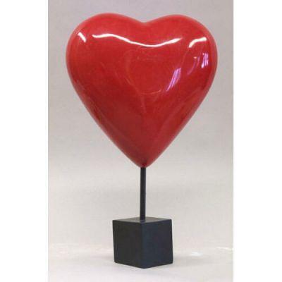 Valentine Heart On Pole 14x14in. Heart Only - Fiberglass - Statue -  - F6815