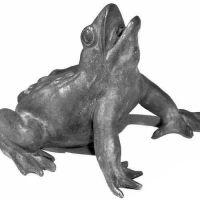 Venice Frog Spitter 8in. - Fiberglass Resin - Indoor/Outdoor Statue
