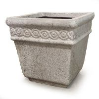 Venton Pot 14in. High - Fiber Stone Resin - Indoor/Outdoor Statue