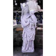 Vierge A L'enfant - Fiberglass - Indoor/Outdoor Garden Statue