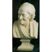 Voltaire Bust Large - Fiberglass - Indoor/Outdoor Garden Statue
