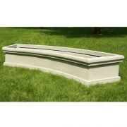 Waldorf Curved Planter 10'in. - Fiber Stone Resin - Outdoor Statue