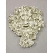 Wall Bacchus 10in. Small - Fiberglass Resin - Indoor/Outdoor Statue