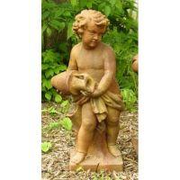 Water Pourer Cherub 38in. Fiber Stone Resin Indoor/Outdoor Statue