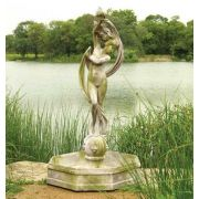 Water Venus w/Fountain Bowl 70in. Fiber Stone Resin In/Outdoor Statue