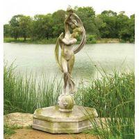 Water Venus w/Fountain Bowl 70in. Fiber Stone Resin In/Outdoor Statue