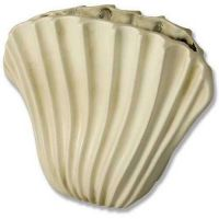 Wavey Fan Shell 16in. - Fiberglass - Indoor/Outdoor Statue