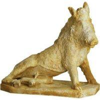 Wild Boar By Pietro Tacca 21in. - Carrara Marble - Statue-