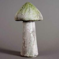 Wild Mushroom 14in. Fiber Stone Resin Indoor/Outdoor Garden Statue