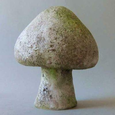 Wild Mushroom 8 In. Fiber Stone Resin Indoor/Outdoor Statue/Sculpture -  - FS8578-8