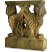 Winged Lion Table Base - Fiber Stone Resin - Indoor/Outdoor Statue